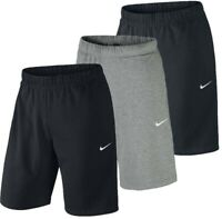 New Men's Nike Logo Lightweight Cotton Shorts - Sports Gym Long Knee Length