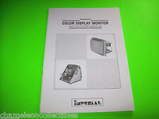 1991 Imperial Color Display Monitor Original Video Instruction Manual