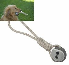 Hundespielzeug Seil mit Ball 33cm Baumwolle Spielzeug Hund Wurfseil Neu