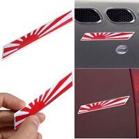 100mmx15mm Japan Badge Emblem Decal Rising Sun Car Sticker Japanese Flag