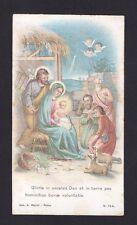 SANTINO 166 PRESEPE NATIVITÀ - IMMAGINETTA HOLY CARD IMAGE PIEUSE Ediz. MARINI