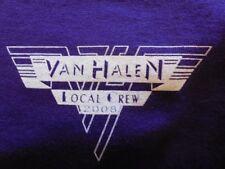"Van Halen Local Crew T Shirt 2008 David Lee Roth.Xl. ""Color Purple"".$50.00"