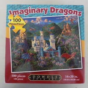 "Dowdle Folk Art Puzzle Imaginary Dragons 100 piece 16"" x 20"""