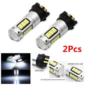 Pair Xenon White 30-SMD 4014 PWY24W PW24W LED DRL Bulb For Car Turn Signal Light