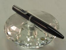 """HIGH QUALITY 4"""" SOLID BLACK AND CHROME TWIST BALL POINT PEN - EASY TO CARRY"""