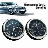 Coppia Luminoso ABS Auto Meccanico Orologio al Quarzo Termometro Decorazione pro