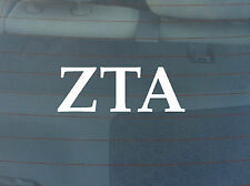 Zeta Tau Alpha Window Decal - White