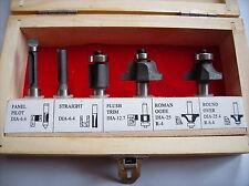 Oberfräsensatz 5-tlg in Holzkiste Fräse Oberfräse Aufnahme 8mm Werkzeug NEU !!!