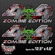 "4x4 ""ZOMBIE EDITION"" 2 Pack Decal vinyl dead Chevy Silverado GMC Sierra truck"