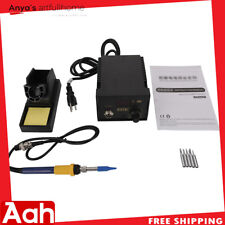 937D Constant-Temperature Soldering Station Digital Display w/5pc Solder Tips US