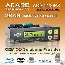 ACARD ARS-5110PX 1-10/11 SATA ODD DVD/CD/BD Duplicator Bundled w/ USB Utility