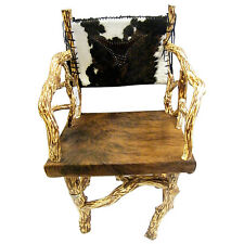 Mountain Laurel/Hair on Hide Chair with Steer Accent