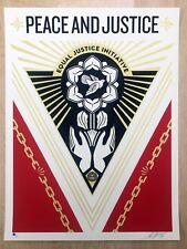 Shepard Fairey | Obey Giant | Peace & Justice sommet | signé & numéroté