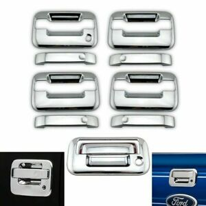 Trunk Tailgate Cover W//Kh For Ford 2004-14 F-150 Chrome 2 Door Handle W//Keypad
