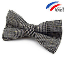 Made in France NOEUD PAPILLON Prince de Galles pour homme -  Grey Bow tie