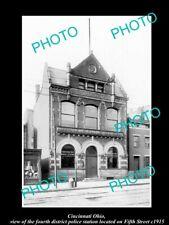 OLD LARGE HISTORIC PHOTO OF CINCINNATI OHIO, THE 4th DIST POLICE STATION c1915