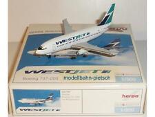 """HERPA WINGS 505789 """"b737-200 Westjet C-gwje"""" 1/500 NEUF, neuf dans sa boîte"""