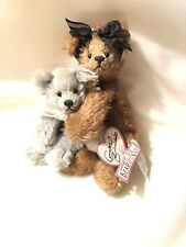 Vintage 90s Annette Funicello Collectible Mohair bear Set of 2 bears Lot Floppy