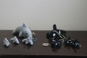 Needle Felted Dolphins and Orcas, Killer Whale Keyrings, Earrings, Phone charm