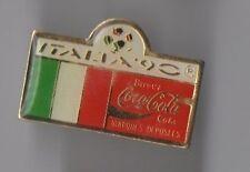 Pin's Italia 90 / Coca Cola / Drapeau Italie