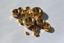 Métrico Latón Tuercas Hexagonales m2 m2.5 m3 m4 m5 m6 m8 m10 m12 m16 m20 Steam