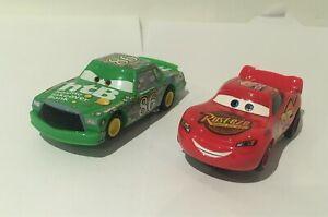 Micro Scalextric Disney CARS x2 Lightning McQueen + Chick Hicks