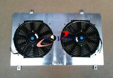 FOR NISSAN Silvia 180SX S13 SR20DET Aluminum Radiator Shroud Fan with 2*fans
