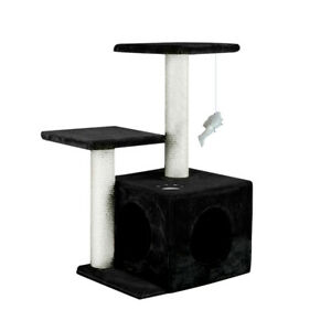 0.6 M Cat Scratching Post Tree Gym Home Condo Furniture Scratcher Pole Black