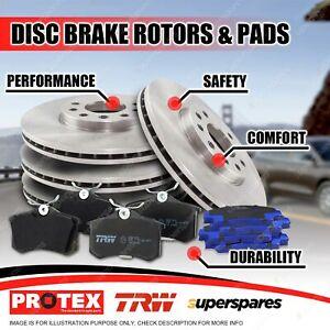 Front + Rear Disc Rotors Brake Pads for Subaru Liberty 2.0L 2.5i 3.0L