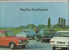FORD ESCORT DE LUXE SALOON, SUPER SALOON & GT + ESTATES SALES BROCHURE 1968/69