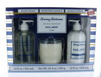 Tommy Bahama Nautical Escape Set Sail Away w/Hand Soap, Candle, Hand Lotion NEW!