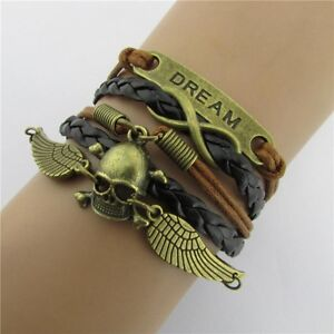 Friendship Bracelet Skull Fashion Leather Bracelet [17]