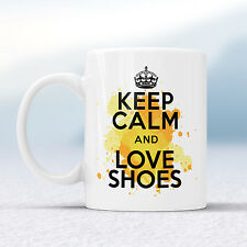 Keep Calm And Love SHOES Splash Mug Gift Heels Shopping Lover Cup Present