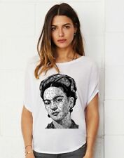 FRIDA KAHLO Geometric lady's tunic damen top shirt loose fit t-shirt