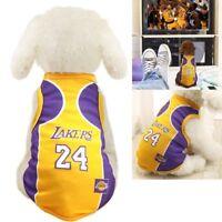 Pet Dog James Kobe Basketball Jersey Puppy Party Custome Vest Fan Sport Clothing