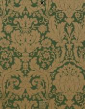 Thibaut. Drexel Wallpaper, Metallic Gold On Green.  839-T-7628  Fast UK Dispatch