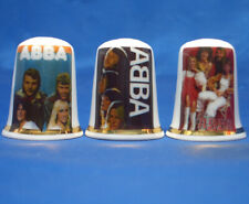 Birchcroft China Thimbles -- Set of Three -- Abba Tour Posters
