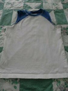 Boy's size Large White & Blue Old Navy Muscle Tank T-Shirt