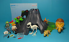 Playmobil Dinosaurier Expedition~Triceratops,Baby &Vulkan/Volcano 4170&Anleitung