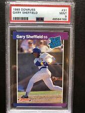 1989 Donruss #31 Gary Sheffield PSA 9 MINT