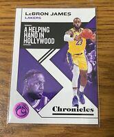 LeBron James Panini NBA Chronicles 19-20 Pink Parallel SP No 10 LA Lakers