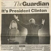 William Bill Clinton Elected US President November 4, 1992 The Guardian