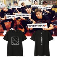 KPOP Monsta x T-shirt BE BEAUTIFUL Concert Tshirt Lee Joo Heon Tee Shownu Tops