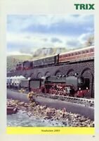Trix Neuheiten 2003 Modelleisenbahn Prospekt m. 96 Seiten brochure model railway