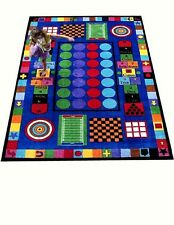 Educational Rug For Schools - Day Care - Kids Room 5' X 8' Game Time.
