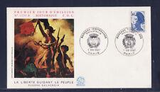 enveloppe 1er jour  Liberté  3f60  bleu    Paris   1987
