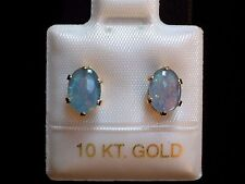 Exclusive Opal Ohrstecker Ohrringe - 7 x 5 mm - 10 Kt. Gold - 417 - Cabochon Cut