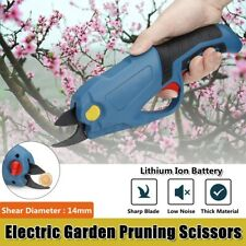 ❤Rechargeable Electric Cordless Pruning Shears Secateur Branch Cutter Scissors