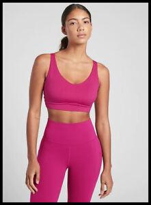 Athleta NWT Women's Solace Bra D-DD Size XLarge Color Cyclamen