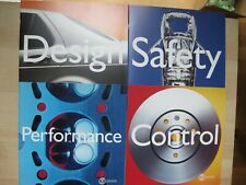 Saab Design Safety Performance Control brochure Prospekt Dutch text 76pages 1998